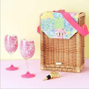 Lilly Pulitzer Wine Glass Basket